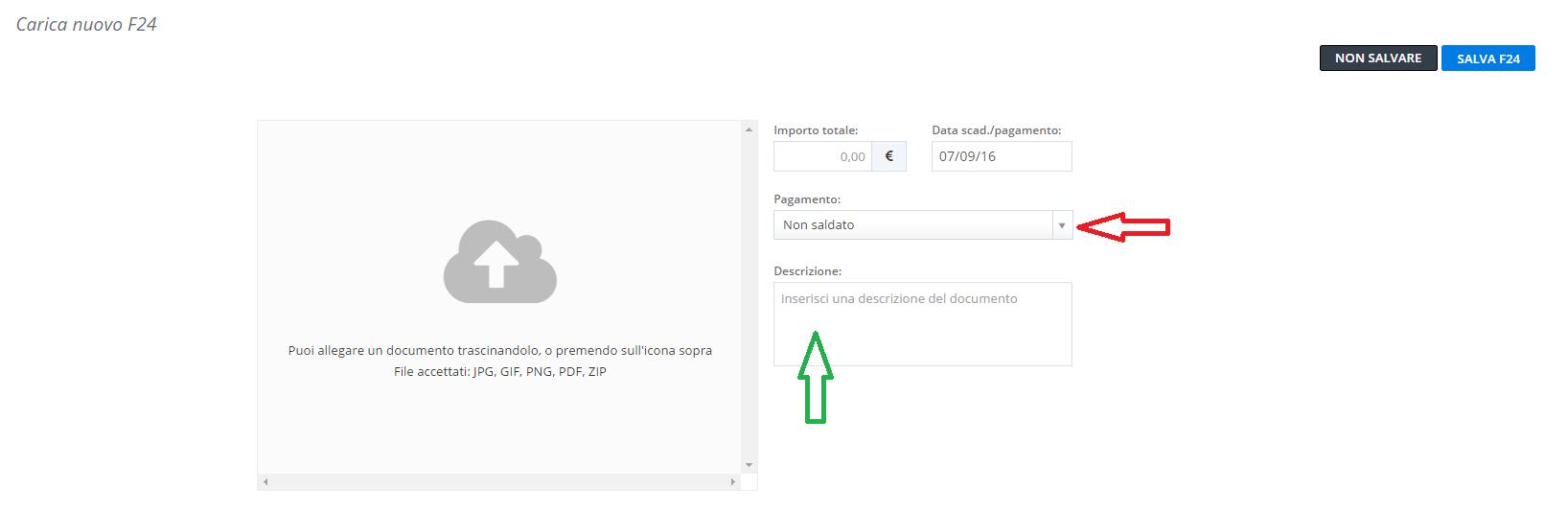 Primo esempio registrazione di un f24 di importo pari a for F24 elide prima registrazione